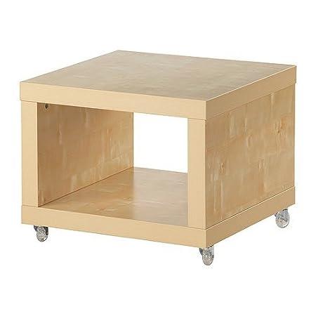 Tavolo Con Ruote Ikea.Ikea Di Tavolino Con Ruote In Legno Di Betulla 55 X 55 Cm