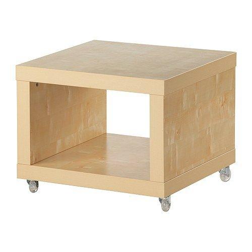 Ikea Lack Beistelltisch Mit Rollen Birkenachbildung 55x55cm
