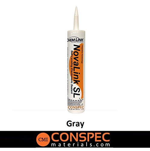 Conspec - Pool Deck Crack & Joint Sealant Novalink-SL (GRAY) 10.1 oz Cartridge (1 TUBE) SELF-LEVELING -