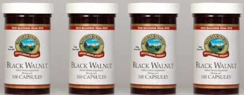 Naturessunshine Black Walnut Поддержка иммунной системы 500 мг 100 капсул (упаковка 4)