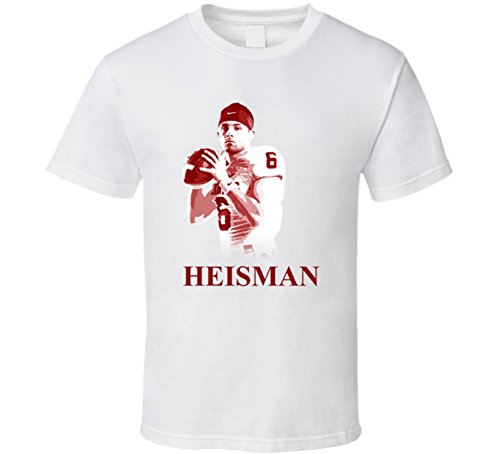 Baker Mayfield QB Oklahoma Heisman Winner Football T Shirt My White