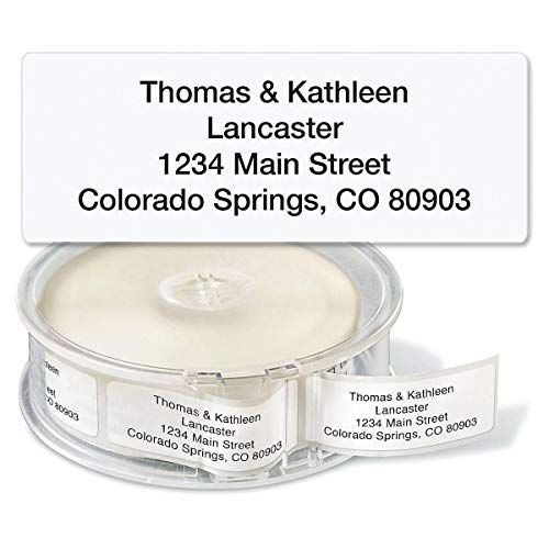 (Gloss White Rolled Address Labels with Dispenser by Colorful Images - Roll of 500 labels)