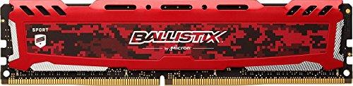 Crucial Ballistix Sport LT 2400 MHz DDR4 DRAM Desktop Gaming Memory Single 8GB CL16 BLS8G4D240FSEK (Red)