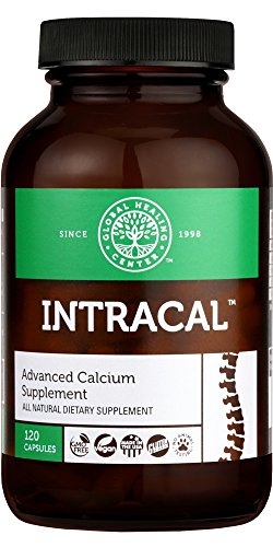 Global Healing Center IntraCal Natural Calcium and Magnesium Supplement for Maximum Absorption (120 Capsules)