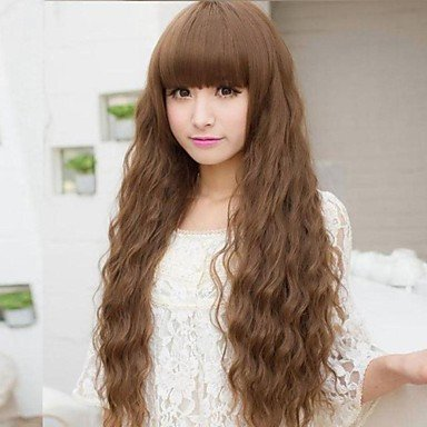 Beauty Fashion Wigs liap Shocking New Ultra low-Cost European And American Fashion Hot Long Hair Fluffy Wig (Shocking Pink Anime)