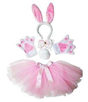 Tie Tail Pink Hen Party Fancy Dress Bunny Rabbit Ears