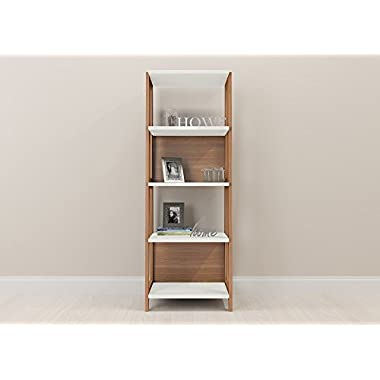 Home Office Bookcase Trendline - 4 Shelf Hanover, Off White
