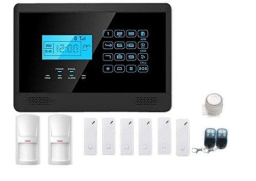 Mapishop Mod. Sara – Kit antirrobo, alarma sin cables y pantalla táctil, doméstico, Kit combinador GSM, inalámbrico, se puede controlar desde el móvil manualmente y por detección vocal, en italiano