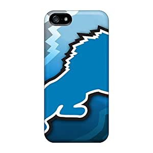 Elaney Fashion Protective Detroit Lions Nfl Case Cover Case For Iphone 5/5S Cover