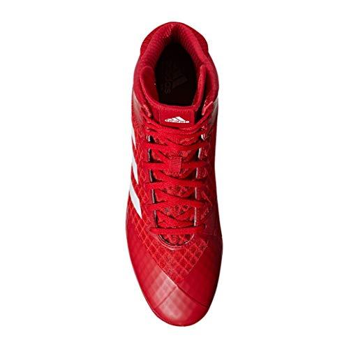 Red Adidas 4 Mat Wizard nbsp;wrestling white Scarpe waq7Ozx