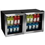 EdgeStar BWC70DUAL 124 Can Side-by-Side Beverage Coolers with Extreme Cool