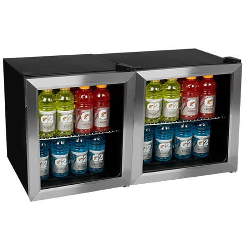 EdgeStar BWC70DUAL 124 Can Side-by-Side Beverage Coolers with Extreme Cool by EdgeStar