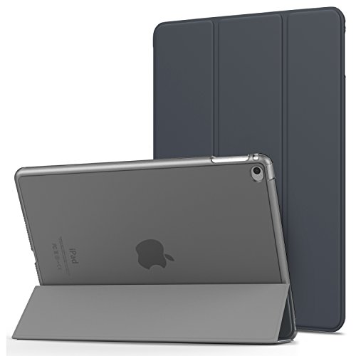 """Price comparison product image MoKo iPad Air 2 Case - Slim Lightweight Smart-shell Stand Cover with Translucent Frosted Back Protector for Apple iPad Air 2 9.7"""" Tablet,  Space GRAY (with Auto Wake / Sleep,  Not fit iPad Air)"""