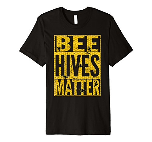 Beehive Halloween Costume (Mens BEE HIVES Funny Bug Lover Beekeeper Halloween Costume Shirt Large Black)