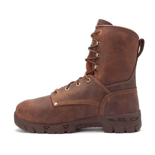 Mens Carolina 8 inch Waterproof Internal Metguard Boots Medium Brown 3K0ABZP