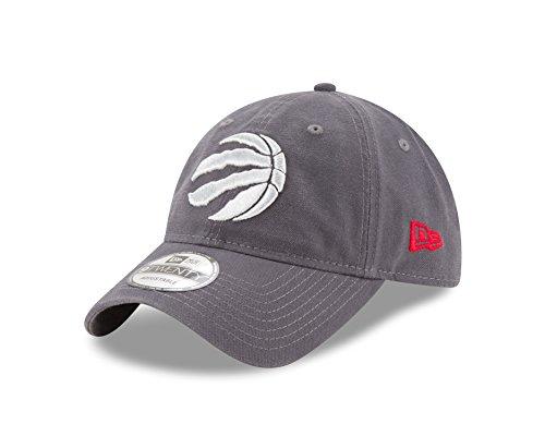 NBA Toronto Raptors Adult Core Classic Graphite 9TWENTY Adjustable Cap, One Size, Graphite
