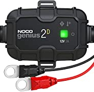 NOCO GENIUS2D, 2-Amp Direct-Mount Onboard Charger, 12V Battery Charger, Battery Maintainer, Trickle Charger, A