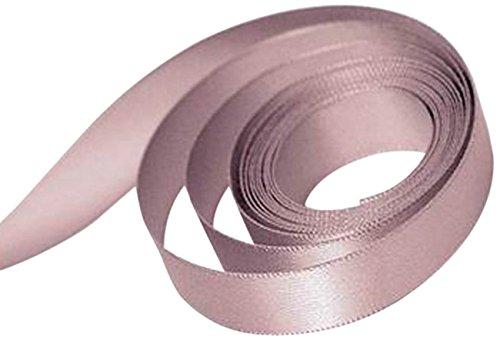 Mauve Satin Ribbon (Papillon Ribbon and Bow 74305 Single Face Satin Ribbon, Antique Mauve)