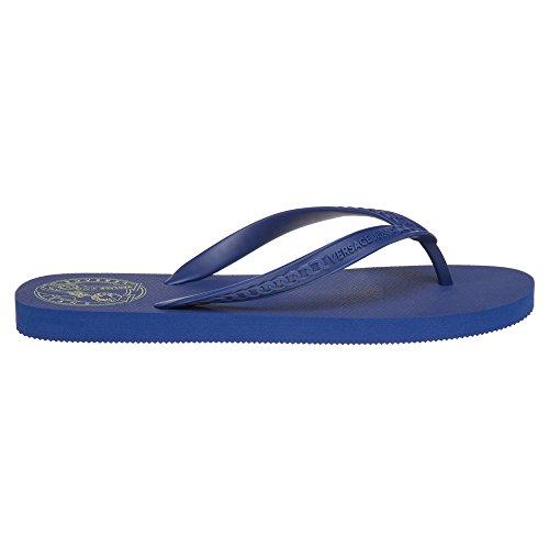 Versace Jeans Branded Flip Flop Herren Sandalen Blau