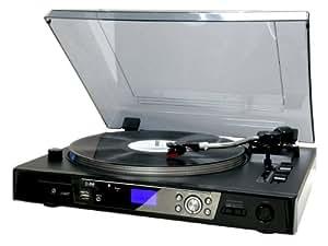 Reflexion TTL87UCE Tocadiscos semiautomático (función de, MP3, USB 2,0) negro