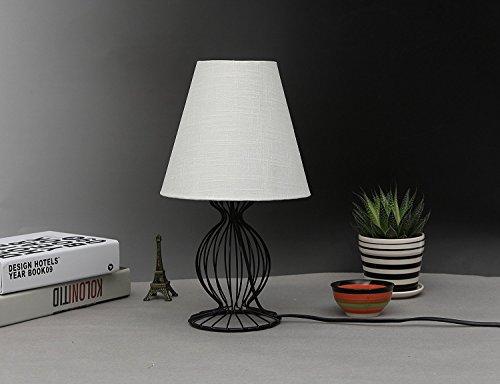Lamp Shade IMISI Linen Fabric White Lamp Shade Small 5'' Top Diameter x 9'' Bottom Diameter x 7'' Tall (White) by IMISI (Image #6)