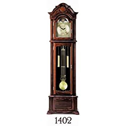 ACME 01402A Meit Grandfather Clock, Dark Walnut Finish