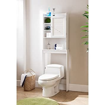 Hollister 24 amp quot  x 67 amp quot  Free Standing Over the Toliet Bathroom Shelf White. Hollister 24 quot  x 67 quot  Free Standing Over the Toliet Bathroom Shelf