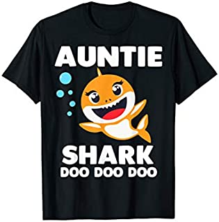 [Featured] Auntie Shark  Doo Doo Uncle Mommy Daddy Aunt Tshirt in ALL styles | Size S - 5XL