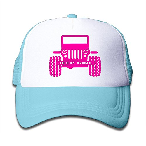 Jeep Girl Adjustable Mesh Polyester Youth Hip-Hop Cap