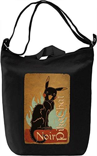 Le Pikachat Noir Borsa Giornaliera Canvas Canvas Day Bag| 100% Premium Cotton Canvas| DTG Printing|