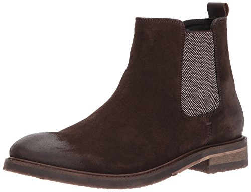 Steve Madden Men's Teller Chelsea Boot, Brown Suede, 10.5 US/US Size Conversion M US