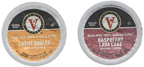 Dessert Variety Pack with Crème Brulee & Rasberry Lava Cake for K-Cup Keurig 2.0 Brewers, 42 Count, Victor Allen's Coffee Single Serve Coffee Pods
