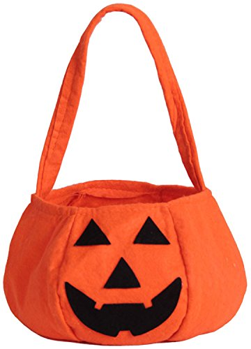ZOEREA 1 PCS Halloween Pumpkin Bag Kids Candy Bag for Halloween Party (Cheap Halloween Baskets)