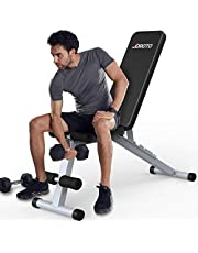 JOROTO Weight Bench Adjustable Strength Training Exercise Bench Workout for Full Body Multi-Purpose Foldable Incline Decline Exercise Benches for Home Gym
