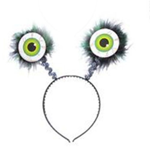 Sofias Closet Big Boy's Alien Monster Boggle Eyes Band Bopper Antenna Springs One Size Fluffy Eyes-Green (Alien Antenna Costume)