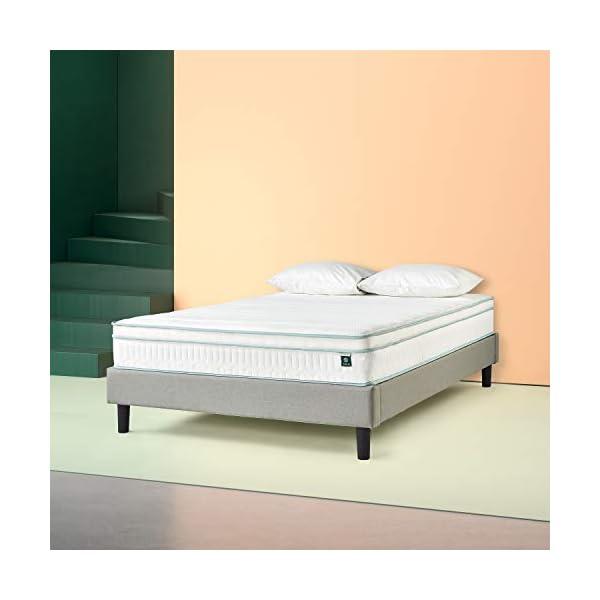 Zinus Materasso Matrimoniale Francese Ibrido con molle e Memory Foam, Certificato Oeko-Tex, 140x190x20cm 3 spesavip
