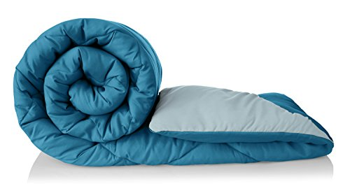Amazon Brand – Solimo Microfibre Reversible Comforter, Double (Ocean Blue and Mild Blue, 200 GSM)