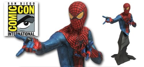Amazing SpiderMan Movie 2012 SDCC San Diego Comic Con Exclusive Figure SpiderMan Metallic Bust