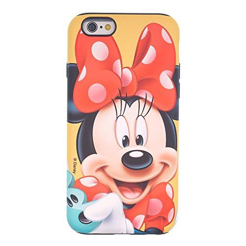 Funda iPhone 6S Plus / iPhone 6 Plus [Protección híbrida contra caídas] DISNEY Linda Doble Capa Hybrid Carcasas [TPU + PC] Parachoques Cubierta [ iPhone 6S Plus / 6 Plus ] - Minnie Mouse Look Down Minnie Mouse Smile (iPhone 6S Plus / 6 Plus)