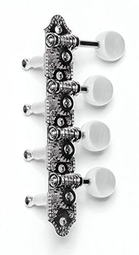 "Cheap Grover Professional Mandolin Machine Heads 309FN, Standard 4 + 4, For ""F"" style Mandolins, Nickel"
