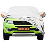 #10: Universal Car Cover for SUV, Waterproof, Dustproof, Snowproof All Weather, Effectively Reduce Temperature Universal UV Waterproof Full Car Cover Outdoor Auto Sun Protection Covers (201