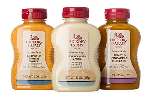 - Hickory Farms Bold Flavors Sauces Flight - 3 Pack