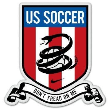Don't Tread On Me USA Soccer Bumper Sticker pro gun 4