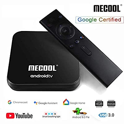 MECOOL Android TV Box 9.0, 4GB RAM 32GB ROM Streaming Media Player Android Smart TV Box with Amlogic S905X2 Quad-Core, Support 2.4G/ 5G Dual Band WiFi 4K Full HD BT 4.1