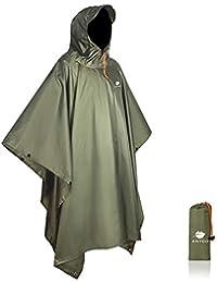 Waterproof Rain Poncho Lightweight Reusable Hiking Hooded Coat Jacket for Outdoor Activities