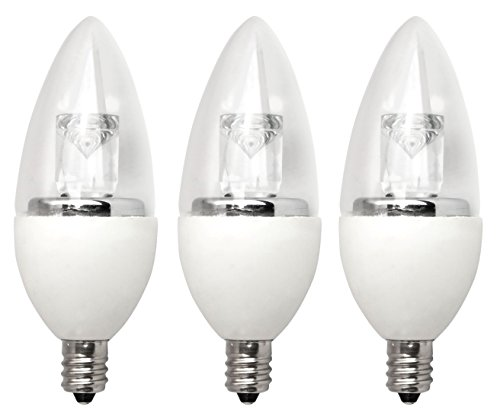 TCP LED Torpedo 40W Equivalent (5W), Soft White (2700K), Dimmable, ENERGY STAR Certified, Candelabra Base Light Bulb (3 Pack) by TCP