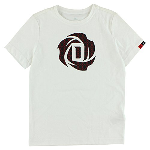 adidas Boys Rose Logo T Shirt White L