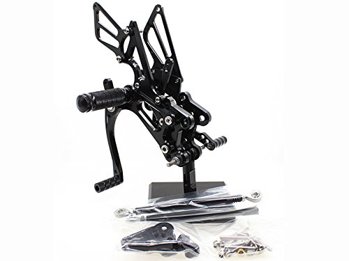 FXCNC Racing CBR 600RR Adjustable Motorcycle Rearset Foot Pegs Rear Set Footrests Fit For Honda CBR600RR NON-ABS 2009 2010 2011 2012 2013 2014 2015 2016 2017 ()
