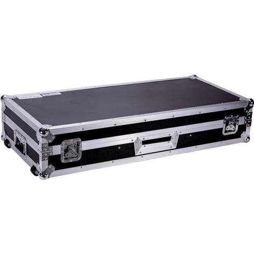 Fly Drive Dj Coffin Case For Two Turntables In Battle Style Position Plus One Pioneer Djm900 Nexu Cable Port For Cable Route-through With Detachable Protective Plate DEEJAYLED TBH2TTDJM9HW
