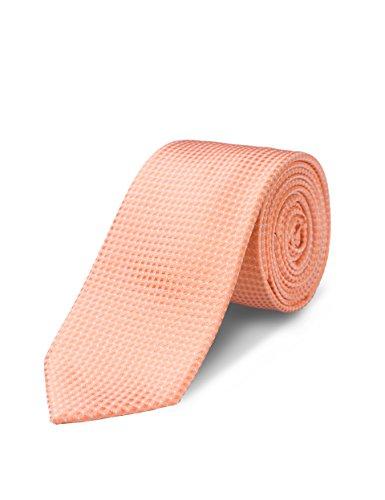 Origin Ties Mens Fashion Pin Dot Orange Skinny Tie Handmade 100% Silk 2.5